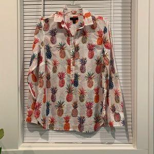J. Crew long sleeve 100% cotton top